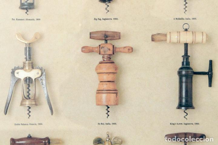 Abrebotellas y sacacorchos de colección: CARTEL PUBLICITARIO COLECCIÓN ANTIGUOS SACACORCHOS EUROPA BODEGAS RAIMAT - Foto 3 - 108180739