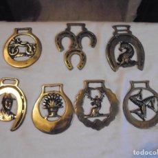 Abrebotellas y sacacorchos de colección: COLECCION DE 7 ABRIDORES DE BRONCE DIFERENTES INGLESES. Lote 110063987