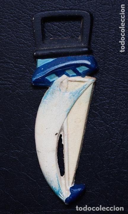 Abrebotellas y sacacorchos de colección: ABREBOTELLAS ARTISTICO DE METAL EN FORMA DE BARCO DE VELA - Foto 2 - 110564299