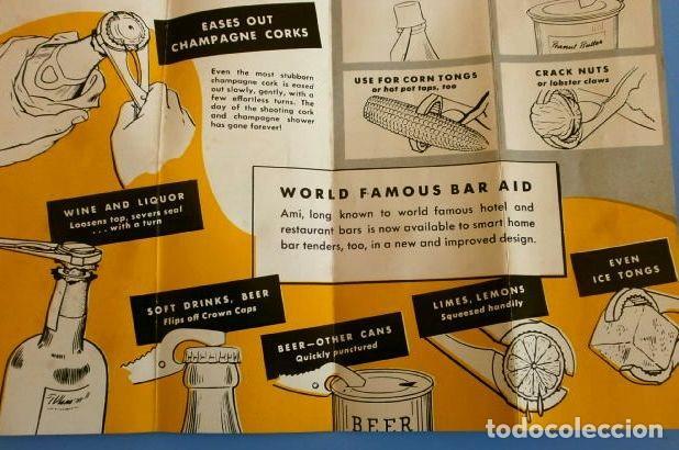 Abrebotellas y sacacorchos de colección: AMI OPEN-ALL (Made in USA años 60) Abre todo, Sacacorchos cava, cascanueces, abrebotellas, abrelatas - Foto 11 - 114908935