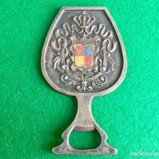 Abrebotellas y sacacorchos de colección: VINTAGE ABRIDOR ABREBOTELLAS DE METAL EN FORMA DE COPA ESPAÑA. Lote 117656360