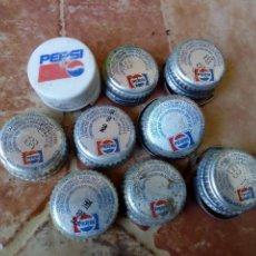 Ouvre-bouteilles et tire-bouchons à collectionner : LOTE 9 TAPONES ROSCA METALICOS PLASTICO REFRESCO GASEOSA PEPSICOLA AÑOS 80 Y 90. Lote 119033767