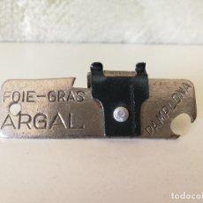 Abrebotellas y sacacorchos de colección: ABRELATAS ARGAL PAMPLONA. Lote 119345003
