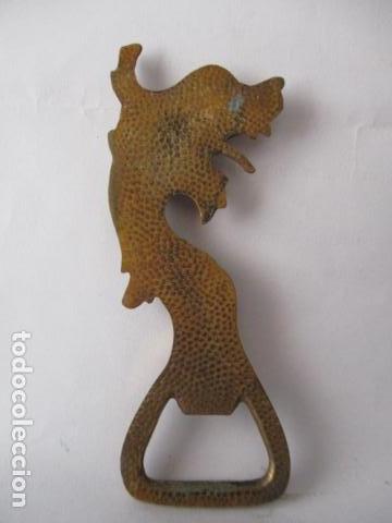 Abrebotellas y sacacorchos de colección: Abrebotellas en bronce forma dragon - 10 cm - Foto 2 - 125237571