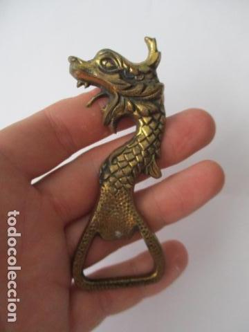 Abrebotellas y sacacorchos de colección: Abrebotellas en bronce forma dragon - 10 cm - Foto 3 - 125237571