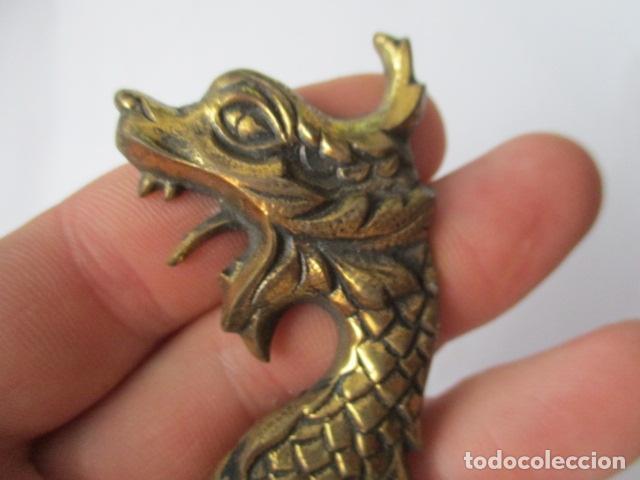 Abrebotellas y sacacorchos de colección: Abrebotellas en bronce forma dragon - 10 cm - Foto 4 - 125237571