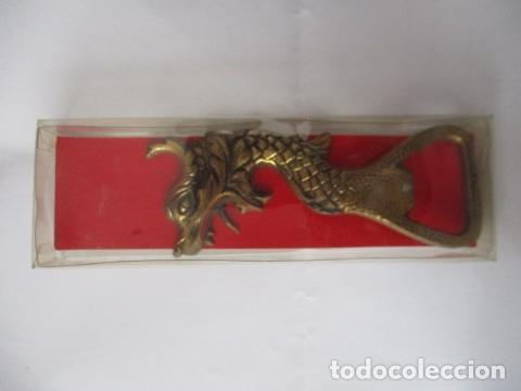 Abrebotellas y sacacorchos de colección: Abrebotellas en bronce forma dragon - 10 cm - Foto 5 - 125237571