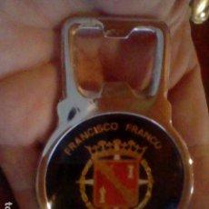 Abrebotellas y sacacorchos de colección: FRANCISCO FRANCO CAUDILLO ESPAÑA VICTOR JEFE ESTADO ABREBOTELLAS . Lote 129488823