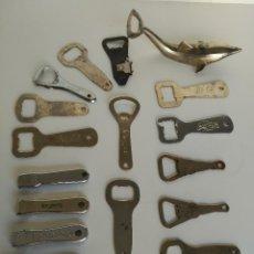 Abrebotellas y sacacorchos de colección: COLECCIÓN DE 17 ABREBOTELLAS ANTIGUOS, TODOS DISTINTOS. Lote 130130535