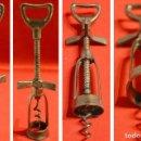 Abrebotellas y sacacorchos de colección: ANTIGUO SACACORCHOS DE TORNILLO PALOMETA DE 3 ASPAS Y ABREBOTELLAS. Lote 132775766