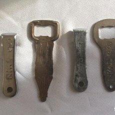 Abrebotellas y sacacorchos de colección: LOTE 6 ABRIDORES ABREBOTELLAS. LECHE COLEMA, TWIN, SCHWEPPES, LANJARON, COCA-COLA.. Lote 132899634