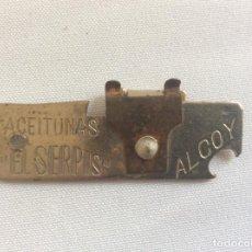 Abrebotellas y sacacorchos de colección: ABRIDOR ABREBOTELLAS ABRELATAS. ACEITUNAS EL SERPIS. ALCOY. Lote 132899726