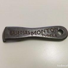 Abrebotellas y sacacorchos de colección: ABRIDOR ABREBOTELLAS GASEOSAS MONTON TUDELA NAVARRA ... ZKR. Lote 58199573
