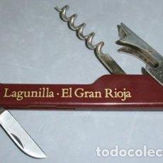 Abrebotellas y sacacorchos de colección: ABREBOTELLA SACACORCHOS LAGUNILLA - EL GRAN RIOJA - ABREBOTELLA-011. Lote 133908106