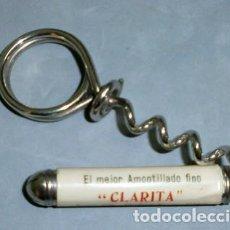 Abrebotellas y sacacorchos de colección: SACACORCHOS AMONTILLADO FINO CLARITA, JEREZ - ABREBOTELLA-013. Lote 133909030
