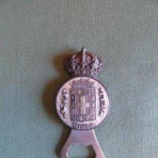 Abrebotellas y sacacorchos de colección: ABREBOTELLAS, ABRELATAS. RDO. DE ALMERÍA. METAL PLATEADO. Lote 135602706
