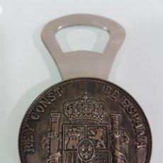 Abrebotellas y sacacorchos de colección: ABREBOTELLAS CINCO PESETAS. Lote 137247222