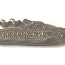 Abrebotellas y sacacorchos de colección: SACACORCHO PEDRO DOMECQ JEREZ FUNDADOR LA INA. MED. 6,50 CM. Lote 140140522