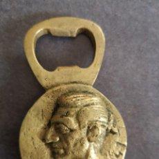 Abrebotellas y sacacorchos de colección: ABREBOTELLAS TORERO MANOLETE BRONCE. Lote 154301250