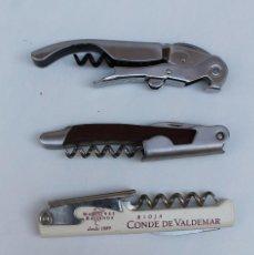 Abrebotellas y sacacorchos de colección: LOTE 4 SACACORCHO / ABREBOTELLAS PUBLICIDAD. Lote 163603570