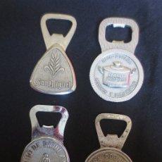 Abrebotellas y sacacorchos de colección: LOTE DE 4 ABREBOTELLAS SCHWEPPES - SAN MIGUEL - IMCO - HIBRIDOS AMERICANOS. Lote 178190663
