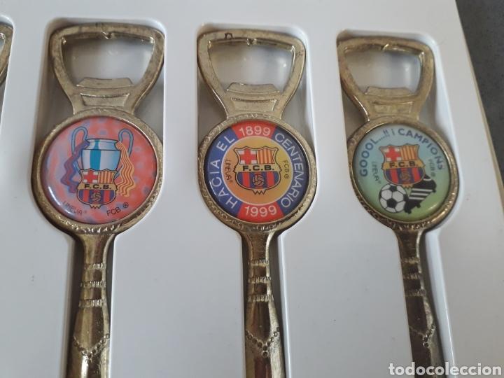 Abrebotellas y sacacorchos de colección: Pack 6 antiguos abridores y abrecartas futbol club Barcelona barça - Foto 2 - 178735953