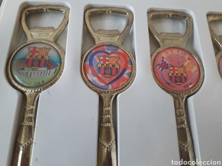 Abrebotellas y sacacorchos de colección: Pack 6 antiguos abridores y abrecartas futbol club Barcelona barça - Foto 3 - 178735953