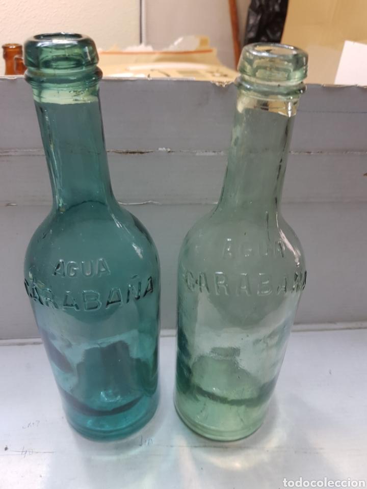 BOTELLAS ANTIGUAS AGUA DE CARABAÑA DISTINTAS (Coleccionismo - Botellas y Bebidas - Abrebotellas y Sacacorchos)