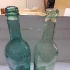 Abrebotellas y sacacorchos de colección: BOTELLAS ANTIGUAS AGUA DE CARABAÑA DISTINTAS. Lote 180118216