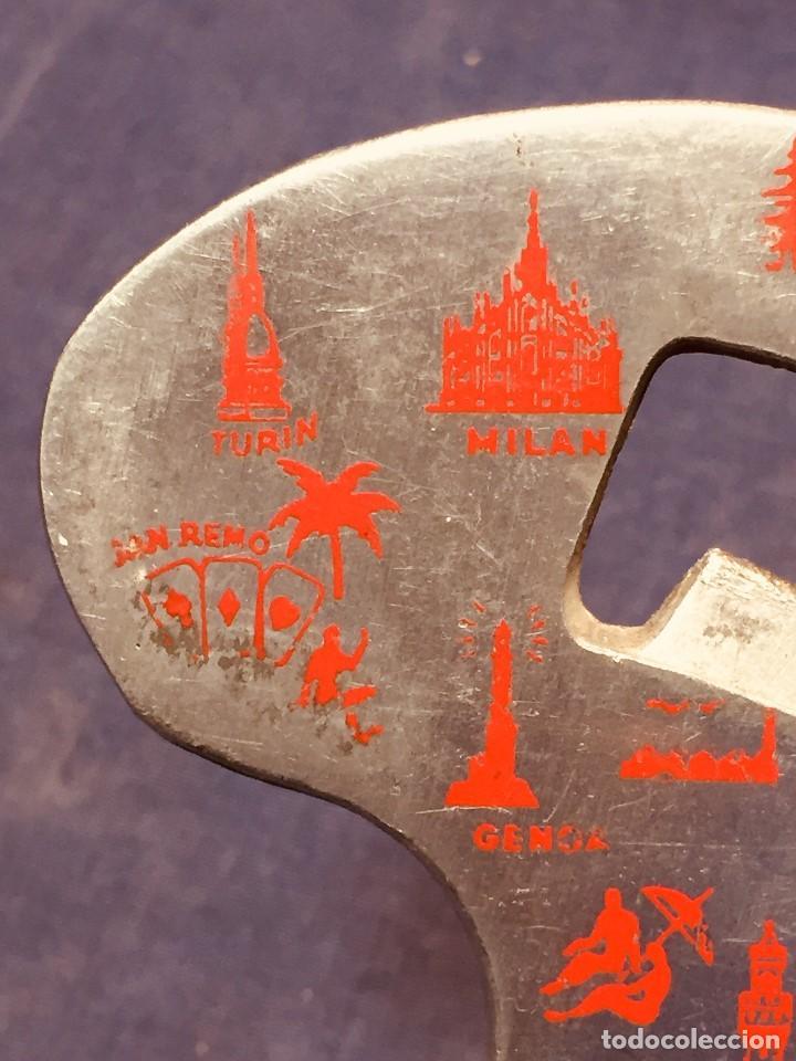 Abrebotellas y sacacorchos de colección: ABRIDOR DE BOTELLAS ABREBOTELLAS XL Aluminio ABRE CHAPAS FORMA ITALIA BREVETTATO - Foto 11 - 185085681