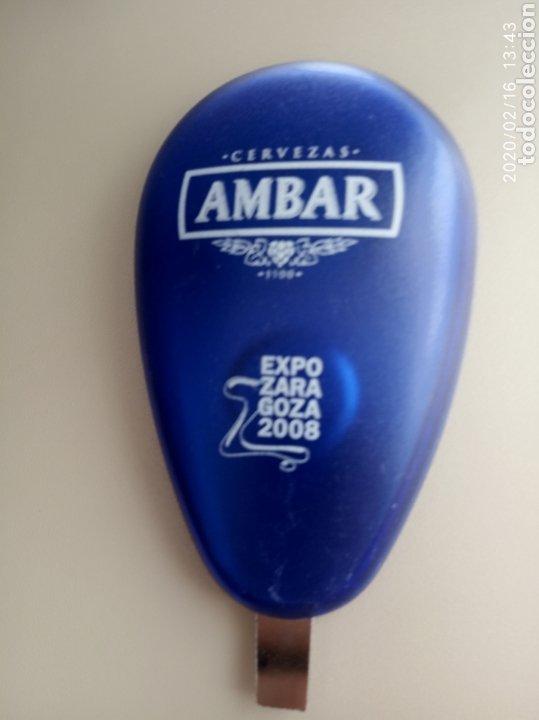 ABREBOTELLAS CERVEZAS AMBAR EXPO ZARAGOZA 2008 (Coleccionismo - Botellas y Bebidas - Abrebotellas y Sacacorchos)