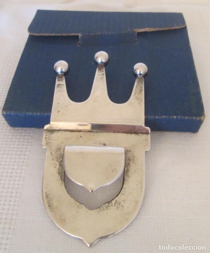 Abrebotellas y sacacorchos de colección: Precioso abridor en forma de corona. OLR Silver Plated. Mide 8,8cm x 4,7cm - Foto 4 - 197259017