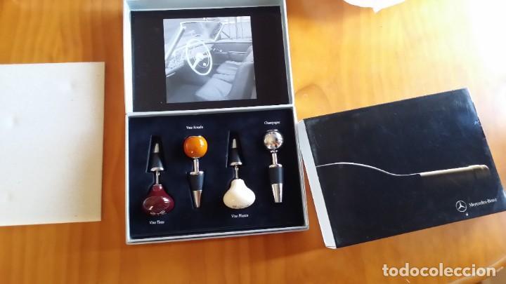 Abrebotellas y sacacorchos de colección: Mercedes Benz estuche tapones de botella vino palanca de cambio - Foto 3 - 204822865