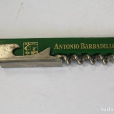 Abrebotellas y sacacorchos de colección: SACACORCHOS ABREBOTELLAS ANTONIO BARBADILLO - CASTILLO DE SAN DIEGO. Lote 206853501