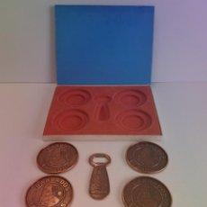 Abrebotellas y sacacorchos de colección: ISLA BARBADOS EXCEPCIONALES POSAVASOS Y ABREBOTELLAS VINTAGE CARIBE ANTILLAS AÑOS 70´S. Lote 210325175