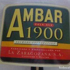 Abrebotellas y sacacorchos de colección: ABREBOTELLAS DE BARRA CERVEZA LA ZARAGOZANA AMBAR. Lote 218116445