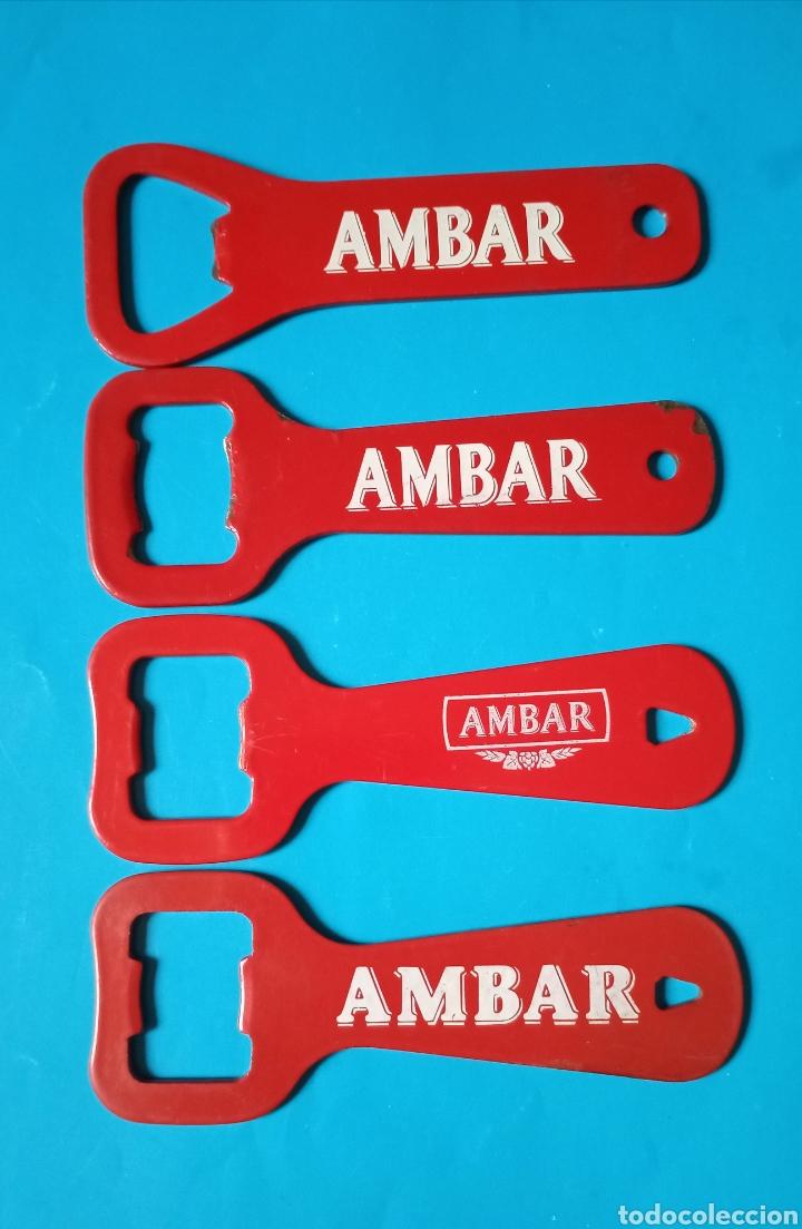 Abrebotellas y sacacorchos de colección: Abridor AMBAR lote 4 abrebotellas diferentes - Foto 2 - 218184575
