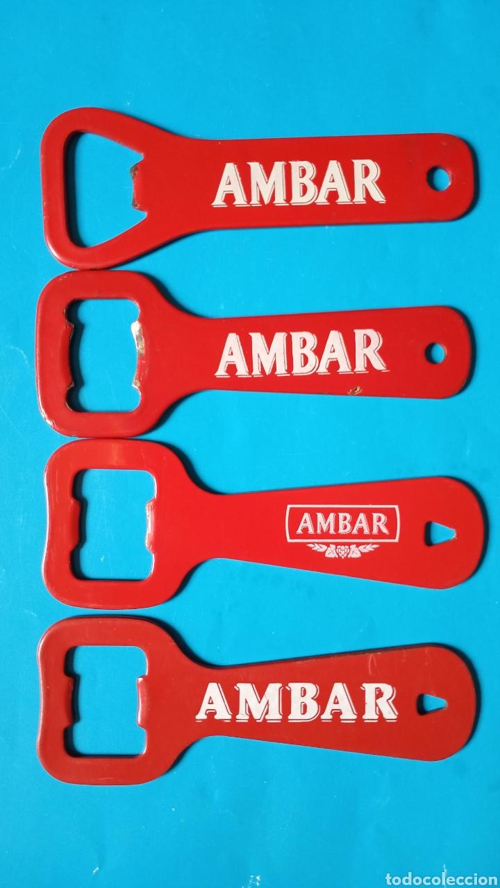 ABRIDOR AMBAR LOTE 4 ABREBOTELLAS DIFERENTES (Coleccionismo - Botellas y Bebidas - Abrebotellas y Sacacorchos)