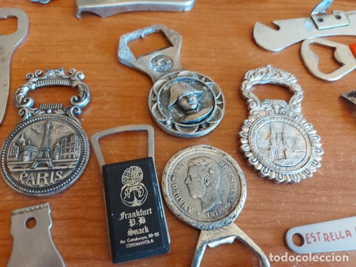 Abrebotellas y sacacorchos de colección: 31 ABREBOTELLAS / ABRIDORES / VINTAGE / CON USO DE LA ÉPOCA / VER FOTOS. - Foto 3 - 223790758