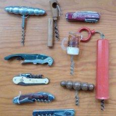Abrebotellas y sacacorchos de colección: LOTE DE 10 SACACORCHOS ABREBOTELLAS. W. Lote 224579340