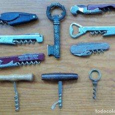 Abrebotellas y sacacorchos de colección: LOTE DE 10 SACACORCHOS ABREBOTELLAS. W. Lote 224579376