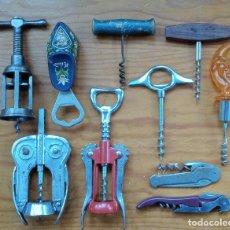 Abrebotellas y sacacorchos de colección: LOTE DE 10 SACACORCHOS ABREBOTELLAS. W. Lote 224579497