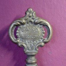Abrebotellas y sacacorchos de colección: ANTIGUO SACACORCHOS LLAVE DE BRONCE. Lote 254040995