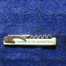 Abrebotellas y sacacorchos de colección: ABRIDOR MARQUES DE MONISTROL VIN NATURE CHARDONNAY. Lote 260790200