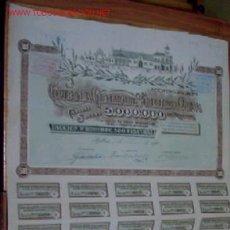 Colecionismo Ações Espanholas: COMPAÑÍA GENERAL ACEITES DE OLIVA 1922. Lote 184715177