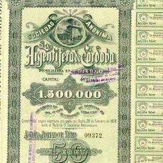 Coleccionismo Acciones Españolas: ARGENTÍFERA DE CÓRDOBA, 1899. Lote 15813