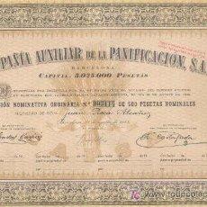 Coleccionismo Acciones Españolas: COMPAÑIA AUXILIAR DE LA PANIFICACION = BARCELONA 1945 = *. Lote 5293764