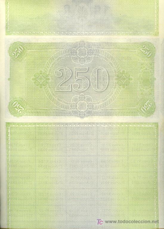 Coleccionismo Acciones Españolas: 1911 COMPAÑIA DE LOS FERROCARRILES DE MALLORCA PRECIOSA OBLIGACIÓN 250 PTAS. CON 35 CUPONES - Foto 3 - 20631054