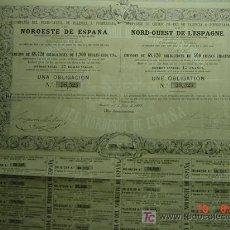 Coleccionismo Acciones Españolas: 8035 FERROCARRIL TREN RAILWAY PALENCIA A PONFERRADA -LEON . AÑO 1862 C&C. Lote 26806142
