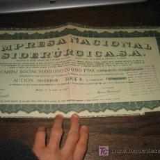 Coleccionismo Acciones Españolas: ACCION PREFERENTE EMPRESA NACIONAL SIDERURGICA S.A . Lote 27080769